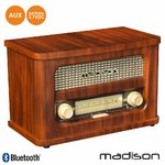 Rádio FM BT LED Vintage Madison Mad-Retroradio