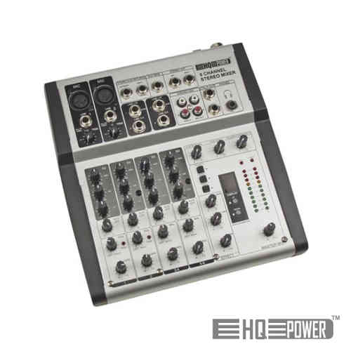 Mesa mistura 6 Canais Reverb/Echo Digital HQ POWER PROMIX66N